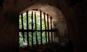 Old prison window