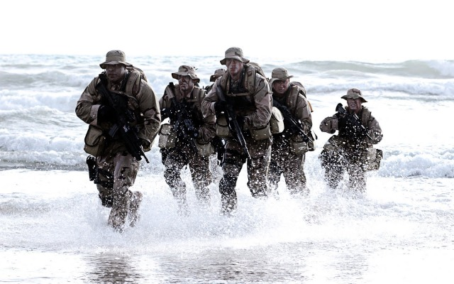 navy seals on shore
