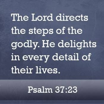 the Lord directs our steps